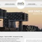 Webpräsenz der Media Company