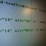 Bildschirm mit Quellcode