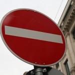 Straßenschild Zufahrt verboten