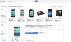 Google Shopping Beispielbild
