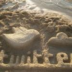 Twitter-Logo aus Sand