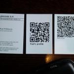 QR-Code-Visitenkarte