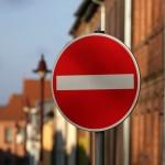 Straßenschild Einfahrt verboten