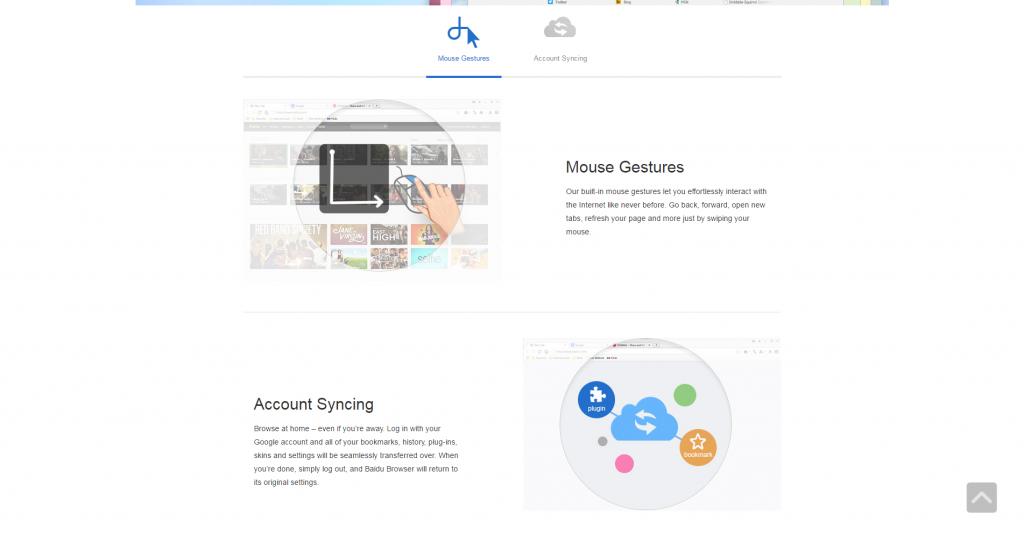 Webseite Baidu Browser
