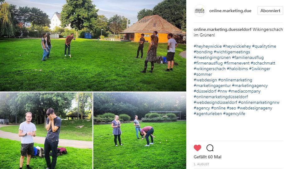 Beispiel Instagram Post der Media Company