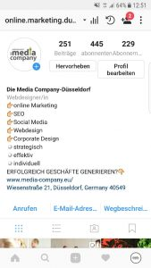 Beispiel Business Account