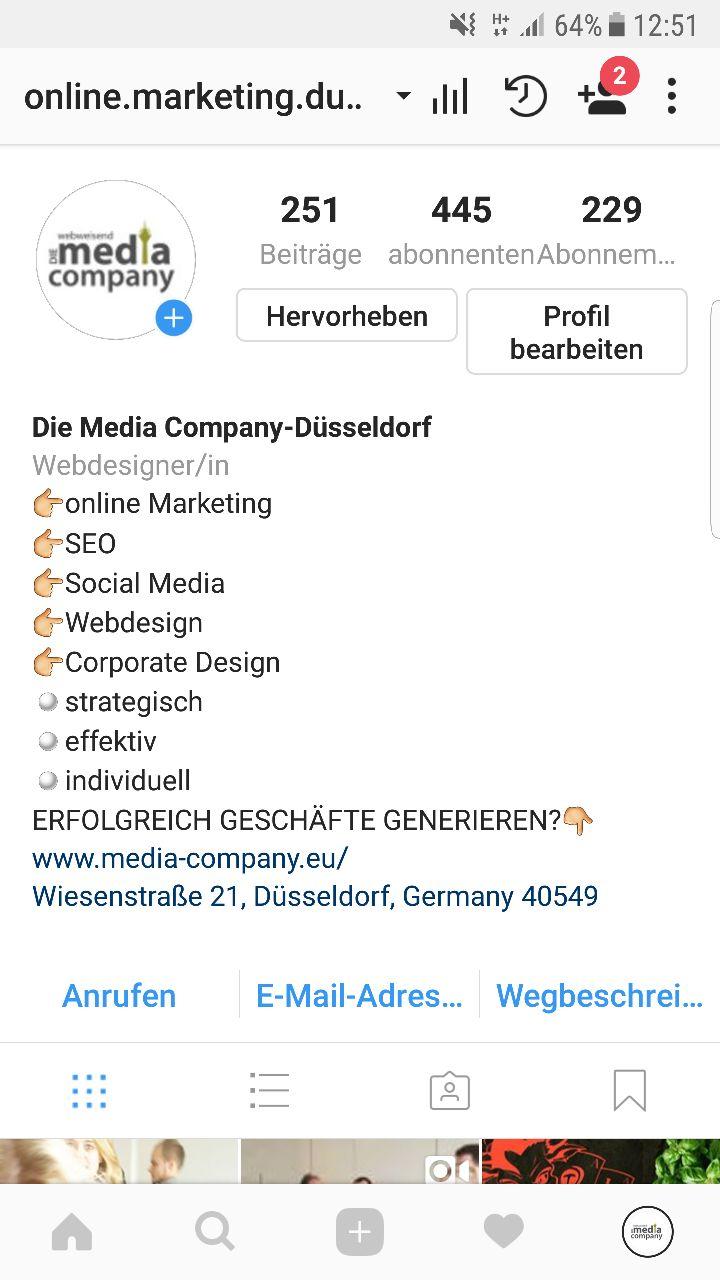Beispiel Business Account