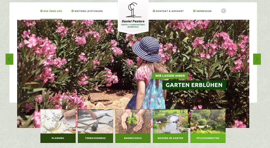 Eine Handwerk Website mit einem stimmigen Screen- und das Contentdesign und einer klaren Menüführung.