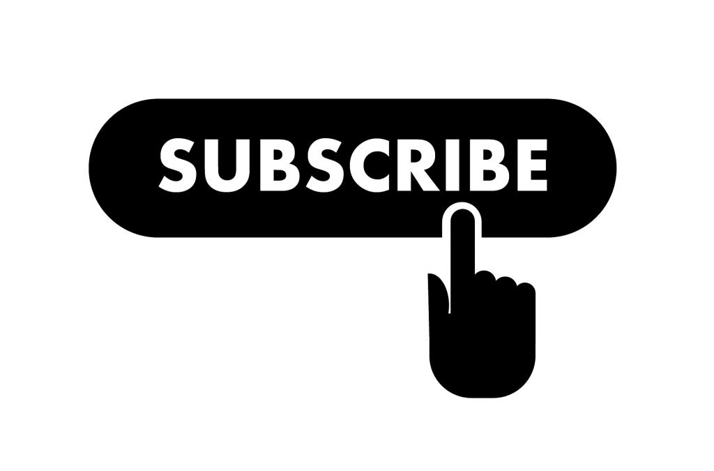ein schwarzer Subscribe-Button über dem ein Mauszeiger schwebt