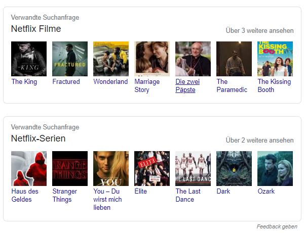 Screenshot Google verwandte Suchanfragen