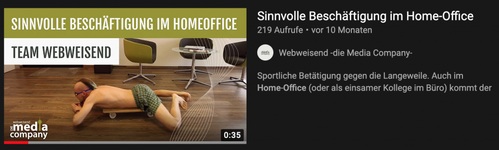 Beispiel witziger Video Thumbnail - Blog: YouTube SEO